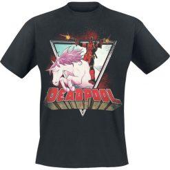 Deadpool Unicorn T-Shirt czarny. Czarne t-shirty męskie z nadrukiem Deadpool, xl, z okrągłym kołnierzem. Za 89,90 zł.