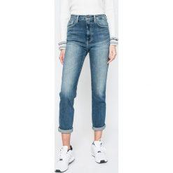 Pepe Jeans - Jeansy Betty. Niebieskie jeansy damskie relaxed fit marki Pepe Jeans, z podwyższonym stanem. W wyprzedaży za 269,90 zł.