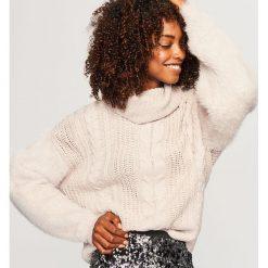 Sweter z golfem - Kremowy. Białe golfy damskie Reserved, l. Za 159,99 zł.