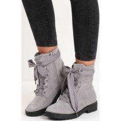 Szare Botki Look Back. Szare buty zimowe damskie Born2be, za kostkę, na niskim obcasie. Za 99,99 zł.