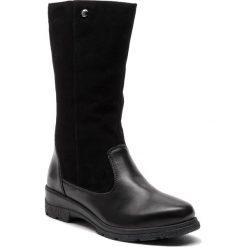 Kozaki CAPRICE - 9-26447-21 Black Comb  019. Czarne buty zimowe damskie Caprice, ze skóry, przed kolano, na wysokim obcasie. W wyprzedaży za 319,00 zł.