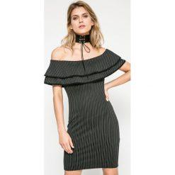 Missguided - Sukienka. Szare sukienki dzianinowe marki Missguided, na co dzień, s, casualowe, mini, dopasowane. W wyprzedaży za 39,90 zł.