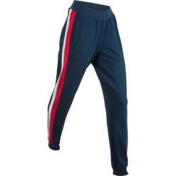 Spodnie dresowe damskie: Spodnie dresowe, długie bonprix ciemnoniebieski