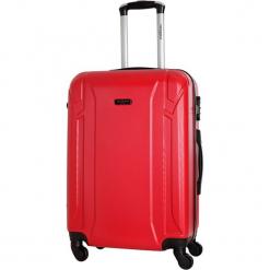 Walizka w kolorze czerwonym - 70 l. Czerwone walizki Bagstone & Travel One, z materiału. W wyprzedaży za 199,95 zł.