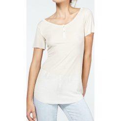 """T-shirty damskie: Koszulka """"Betybird"""" w kolorze kremowym"""