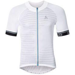 Odlo Koszulka męska Stand-up collar s/s full zip BREATHE biała r. L (411172/70505). Białe koszulki sportowe męskie marki Odlo, l. Za 216,32 zł.