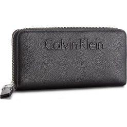 Portfele damskie: Duży Portfel Damski CALVIN KLEIN BLACK LABEL – Edge Large Ziparound K60K603910 001
