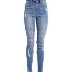 Missguided SINNER BIKER Jeans Skinny Fit blue. Niebieskie rurki damskie Missguided. W wyprzedaży za 143,20 zł.