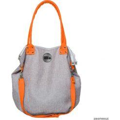 Torba Worek City Grey #Orange. Pomarańczowe torebki klasyczne damskie Pakamera, z tkaniny. Za 189,00 zł.