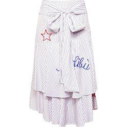 Spódniczki trapezowe: The Editor STRIPE SKIRT Spódnica trapezowa white