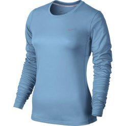 Nike Koszulka damska Miler Long Sleeve niebieska r. L (686904 422). Niebieskie topy sportowe damskie Nike, l. Za 100,00 zł.