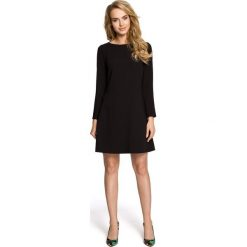 LAUREN Wizytowa sukienka z długimi rękawami - czarna. Czarne sukienki koktajlowe Moe, z tkaniny, z długim rękawem. Za 169,90 zł.