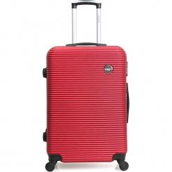 """Walizka """"London"""" w kolorze bordowym - 47 x 70 x 29 cm. Czerwone walizki Hero & BlueStar, z materiału. W wyprzedaży za 260,95 zł."""