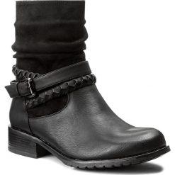 Botki JENNY FAIRY - WS1216-28 Czarny 1. Czarne buty zimowe damskie Jenny Fairy, z materiału, na obcasie. Za 119,99 zł.