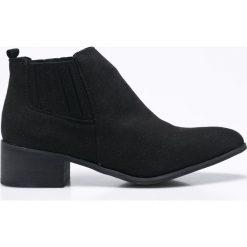 Vero Moda - Botki Sofie. Szare buty zimowe damskie Vero Moda, z materiału. W wyprzedaży za 119,90 zł.