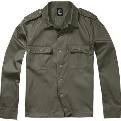 Brandit US Hemd langarm Koszula oliwkowy. Białe koszule męskie na spinki marki Brandit, l, z aplikacjami, z bawełny, z długim rękawem. Za 62,90 zł.