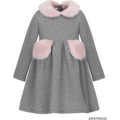 Sukienka Naomi Fur Grey. Czerwone sukienki dziewczęce marki Pakamera, z dzianiny. Za 200,00 zł.