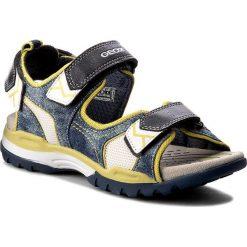 Sandały GEOX - J Borealis B. D J720RD 01314 C0749 D Morski/Limonkowy. Niebieskie sandały chłopięce Geox, z materiału. W wyprzedaży za 219,00 zł.
