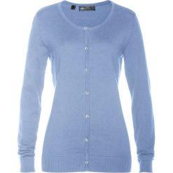 Kardigany damskie: Sweter rozpinany bonprix perłowy niebieski