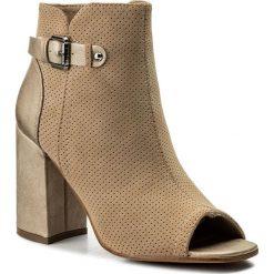 Botki JENNY FAIRY - WS17051-7A Beżowy. Brązowe buty zimowe damskie Jenny Fairy, z materiału, na obcasie. W wyprzedaży za 99,99 zł.