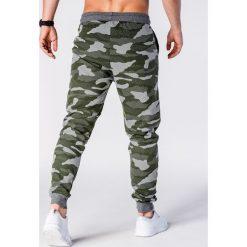 Spodnie dresowe męskie: SPODNIE MĘSKIE DRESOWE MORO P635 – ZIELONE