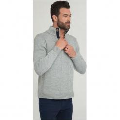 Sir Raymond Tailor Sweter Męski Wave L Szary. Szare swetry klasyczne męskie Sir Raymond Tailor, l, z dzianiny. Za 195,00 zł.