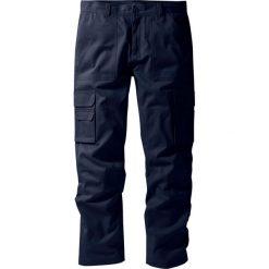 """Spodnie """"bojówki"""" z powłoką z teflonu Regular Fit Straight bonprix ciemnoniebieski. Niebieskie bojówki męskie bonprix. Za 79,99 zł."""