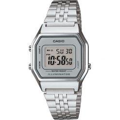 Zegarek Casio Zegarek damski Retro srebrny (LA680WEA-7EF). Szare zegarki damskie CASIO, srebrne. Za 166,00 zł.