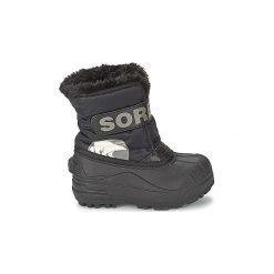 Śniegowce Dziecko Sorel  CHILDRENS SNOW COMMANDER. Czarne buty zimowe chłopięce Sorel. Za 249,99 zł.