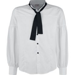 Koszule męskie na spinki: Banned Rüschenhemd mit Knopfverschluss Koszula biały