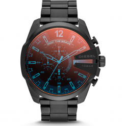 Zegarek DIESEL - Mega Chief DZ4318 Black/Black. Czarne zegarki męskie Diesel. Za 1099,00 zł.