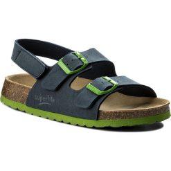 Sandały męskie skórzane: Sandały SUPERFIT – 2-00124-82 Ocean Kombi D