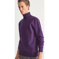 Bluza z golfem - Fioletowy. Fioletowe bluzy męskie rozpinane marki Reserved, l. Za 119,99 zł.