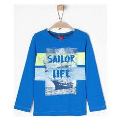 S.Oliver Koszulka Chłopięca 116 - 122, Niebieska. Niebieskie t-shirty chłopięce marki S.Oliver, z bawełny. W wyprzedaży za 49,00 zł.