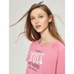 Bluzy rozpinane damskie: Bluza oversize - Różowy
