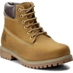 Trapery CANGURO - A028-300 Plcia Yellow/Brown. Żółte buty zimowe damskie marki Canguro, z materiału. W wyprzedaży za 149,00 zł.