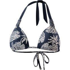 Biustonosz bikini w kolorze granatowo-białym. Niebieskie biustonosze z fiszbinami marki Najlepsze stroje na plażę, z materiału. W wyprzedaży za 51,95 zł.