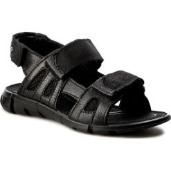Sandały ECCO - Intrinsic Sandal 70555251052 Black/Black. Czarne sandały męskie skórzane ecco. Za 289,90 zł.