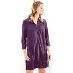 Długie sukienki: Sukienka prosta z graficznym nadrukiem, krótka