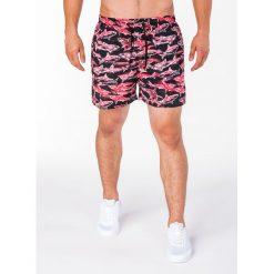 KRÓTKIE SPODENKI MĘSKIE W091 - RÓŻOWE. Fioletowe spodenki i szorty męskie marki KIPSTA, m, z elastanu, z długim rękawem, na fitness i siłownię. Za 19,99 zł.