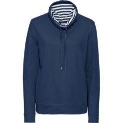 Bluza dresowa z długim rękawem bonprix ciemnoniebieski. Niebieskie bluzy rozpinane damskie bonprix, z dresówki, z długim rękawem, długie. Za 74,99 zł.