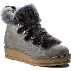 Botki WOJAS - 7681-60 Popiel. Szare buty zimowe damskie Wojas, ze skóry, na obcasie. W wyprzedaży za 269,00 zł.