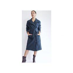 Wełniany płaszcz SCANDINAVIAN DREAM DEEP NAVY WOOL. Niebieskie płaszcze damskie pastelowe TRUE COLOR by Ann, l, melanż, z wełny, klasyczne. Za 1290,00 zł.