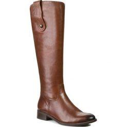 Oficerki NESSI - 20010 Brąz 14. Brązowe buty zimowe damskie marki Nessi, z jeansu, na obcasie. W wyprzedaży za 299,00 zł.