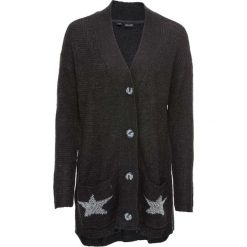 Sweter rozpinany bonprix antracytowy melanż. Szare kardigany damskie marki bonprix. Za 44,99 zł.