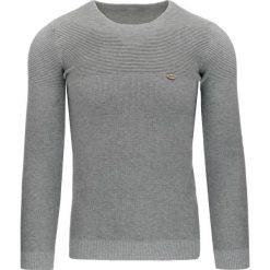 Swetry klasyczne męskie: Sweter męski szary (wx0800)