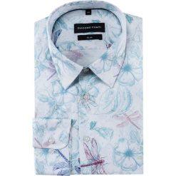 Koszula SIMONE slim KDWS000381. Szare koszule męskie na spinki marki S.Oliver, l, z bawełny, z włoskim kołnierzykiem, z długim rękawem. Za 199,00 zł.