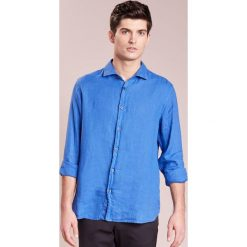 Koszule męskie na spinki: 120% Lino CAMICIA UOMO Koszula blue elettrico