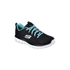 Buty do biegania Skechers  GRACEFUL GET CONNECTED 12615 BKTQ. Niebieskie buty do biegania damskie marki Skechers. Za 228,66 zł.