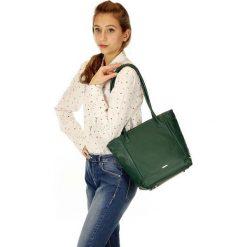 Torebki klasyczne damskie: ESTRELLA Torebka włoska skóra zielona
